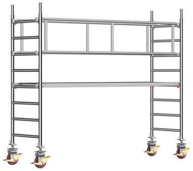 Layher Fahrgerüst Uni-Standard -  Sicherheitsaufbau P2