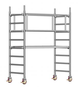 Layher Fahrgerüst  Uni-Leicht - Sicherheitsaufbau P2