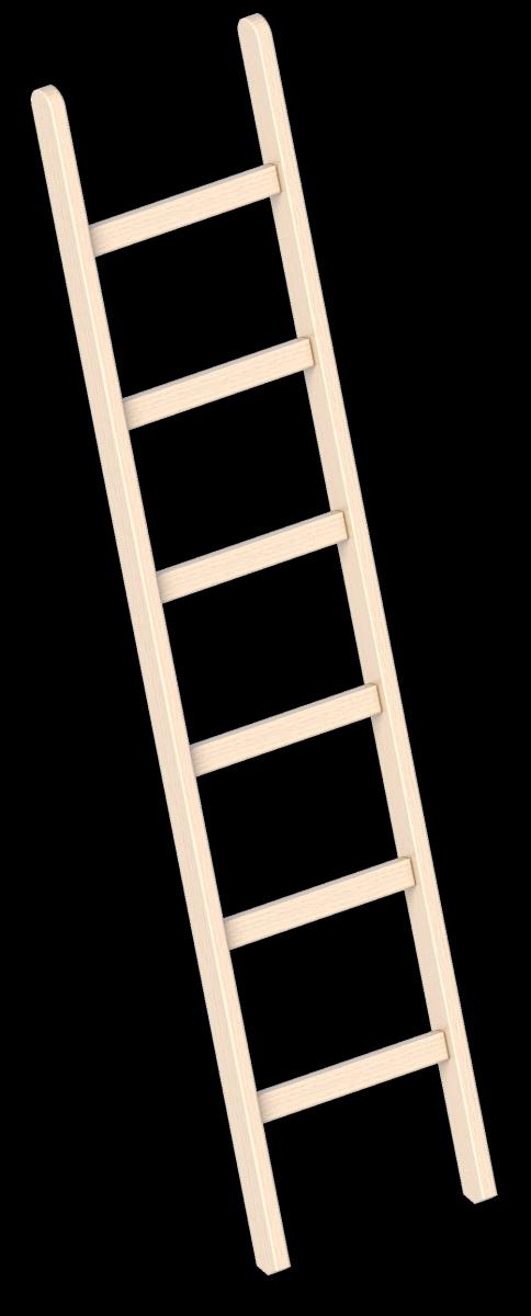 8 Sprossen 2,45 m Holzleiter Anlegeleiter Leiter Layher Holzanlegeleiter 1052